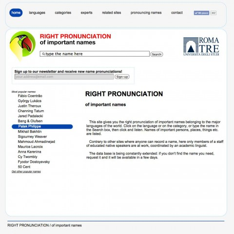 Right Pronunciation